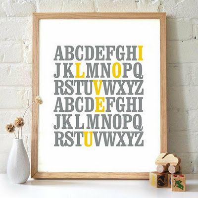 Cute alphabet sign