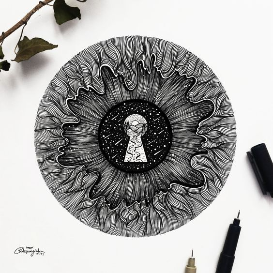 Ink illustrations by Meni Chatzipanagiotou