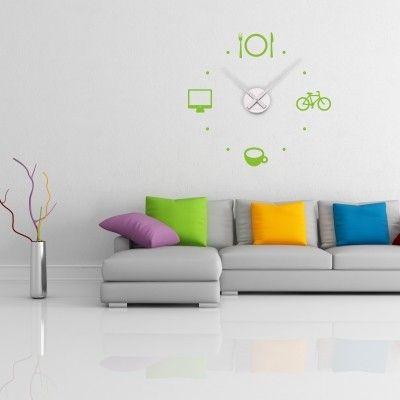"""Adesivo Murale - Orologio Agenda.  Adesivo murale di alta qualità con pellicola opaca di facile installazione. Lo sticker si può applicare su qualsiasi superficie liscia: muro, vetro, legno e plastica.  L'adesivo murale """"Orologio Agenda"""" è ideale per decorare la cucina. Adesivi Murali."""