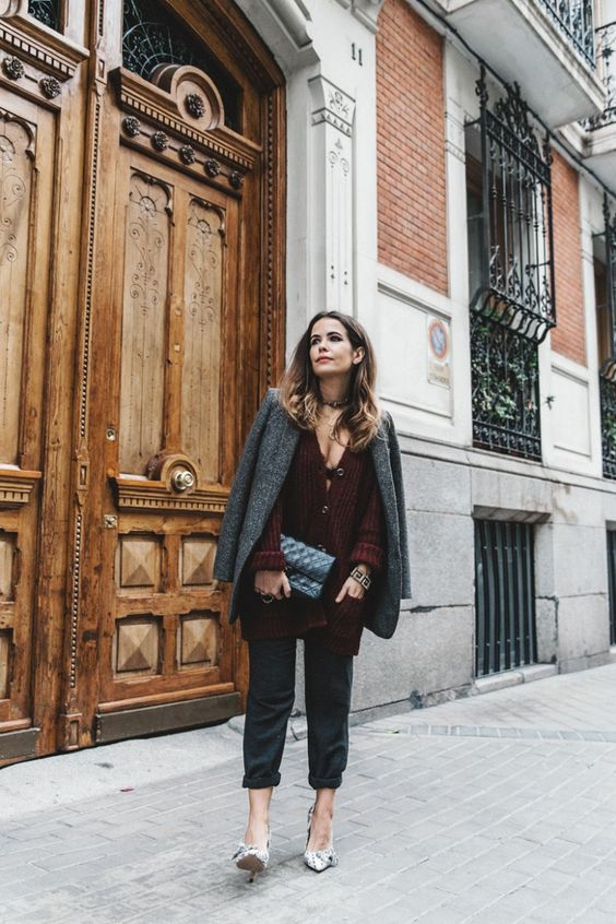 Burgundy_Cardigan-Oversize-Grey_Blazer-Grey_trousers-Isabel_Marant-Shoes-Chanel_Vintage_Bag-Lace_Bra-Layering_Necklaces-Maria_Pascual-Collage_Vintage-Outfit-Street_Style-12-768x1152.jpg (768×1152)