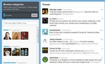 How to Set Up Your New Twitter Account 5 of 21  Follow more => browse categories people,companies, subjects