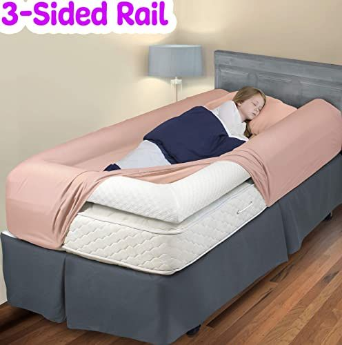New 3 Sided Bed Rail Toddler Soft Foam Bed Bumper Kids