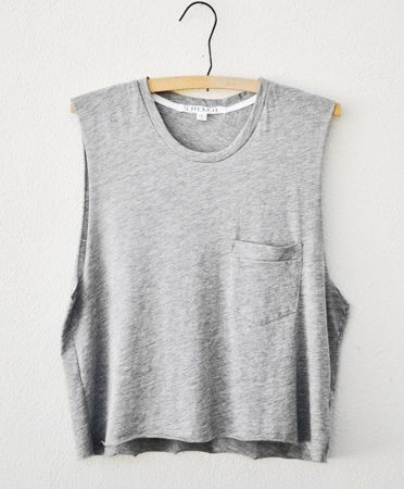 heather gray muscle tee by Sophomore $50.00