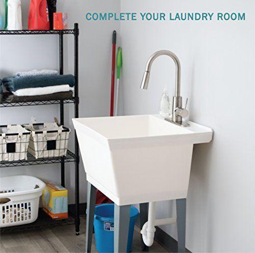 laundry sink utility tub with high arc