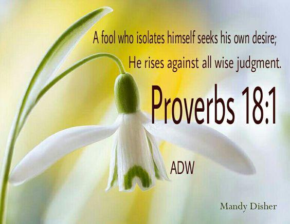 Proverbs 18:1