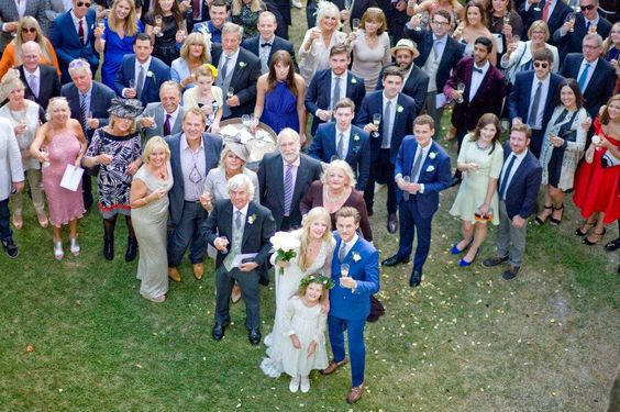 The wedding crowd