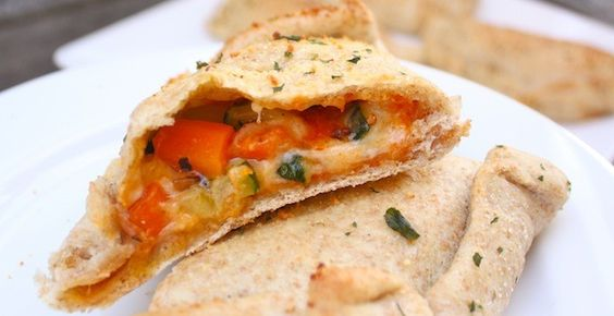 Roasted Vegetable Whole-Wheat Calzones