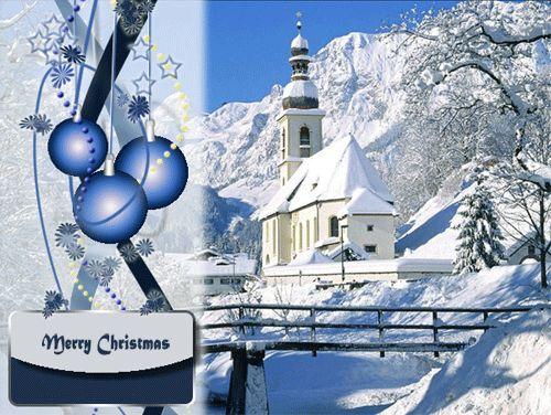 Blue Christmas ecard!