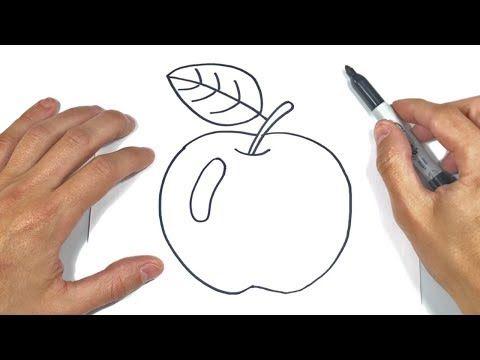 Como Dibujar Una Manzana Paso A Paso Dibujo De Manzana Youtube Manzanas Dibujo Dibujo Paso A Paso Como Dibujar