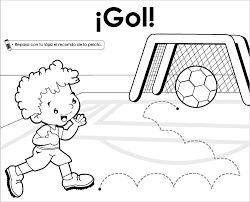 dibujos de niños jugando futbol a color - Cerca amb Google