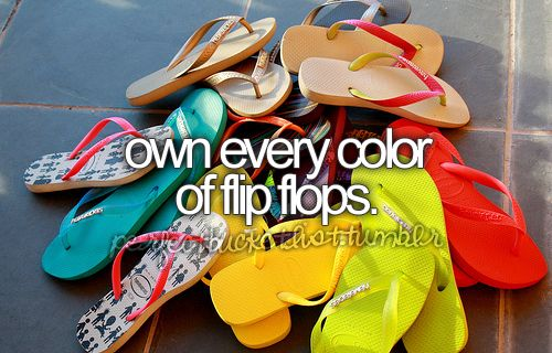 Oh yes! I love flip flops, I wear them all year round.