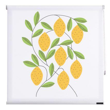 Estores cocina fruits de cortinadecor color limones - Estores enrollables cocina ...