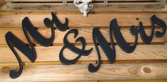 Mr And Mrs Large Wooden Letters: Mr & Mrs Wedding Letters Wooden