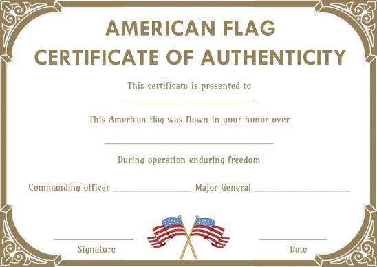Certificate Of Authenticity Free Sample Templates For