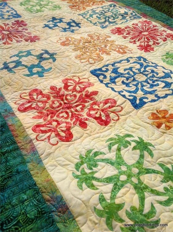 hawaiian sea turtle quilt patterns   Easy Hawaiian Quilt Pattern - Honolulu Sampler - NEW!
