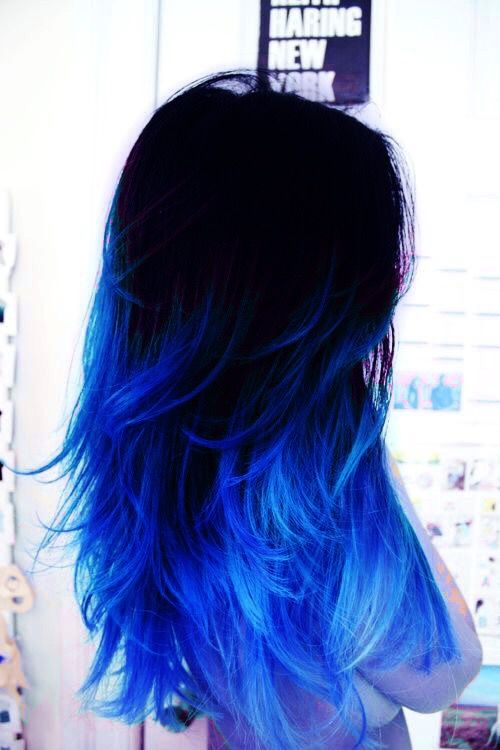 Pin By Lazer Boots On The Hotel Hair Styles Blue Ombre Hair Dyed Hair