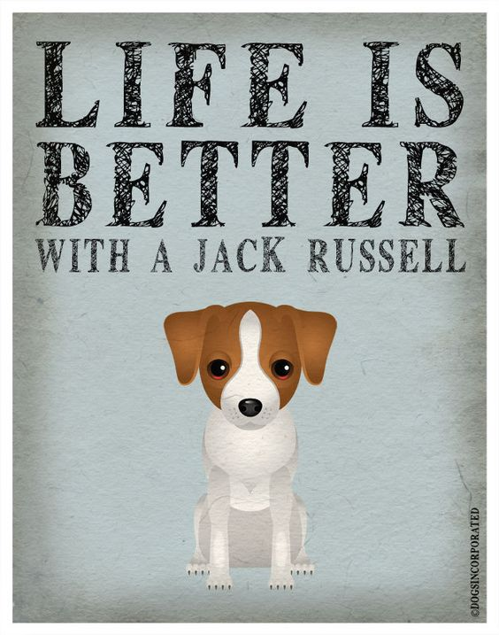 Life is Better with a Jack Russell Art Print 11x14 - Custom Dog Print. $29.00, via Etsy.