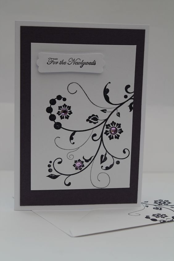 For the Newlyweds Handmade Card Stampin' Up! Wedding