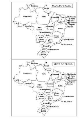 Mapa Do Brasil Atividades Atividades De Geografia Atividades