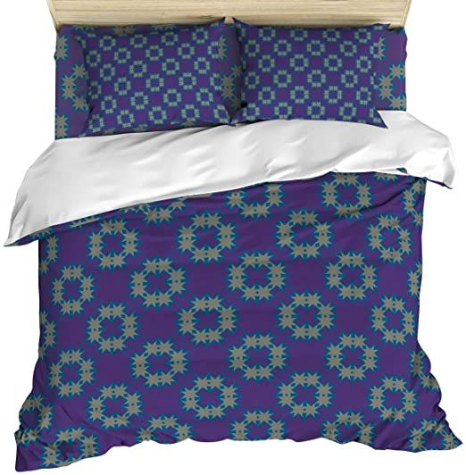 Our Dreams 4 Piece Cozy Duvet Cover Set Queen Size Tribal Pattern Breathable Bedding Sets With Quilt Cover Pillo Duvet Cover Sets Pillow Case Bed Bed Sheets