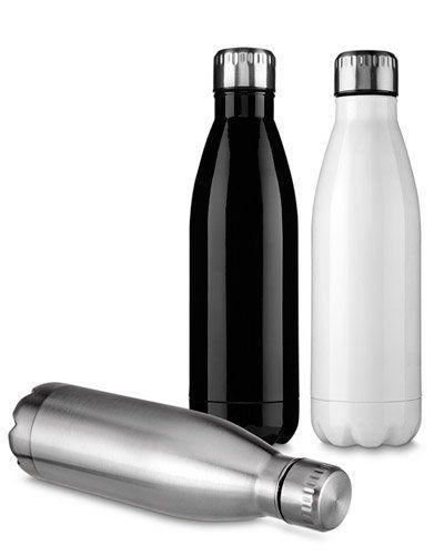 Resistente a garrafa de alumínio personalizada para brindes é a escolha certa para seu evento. Ela possui design diferenciado, capacidade de 750 ml e está disponível nas cores prata, branco e preta.