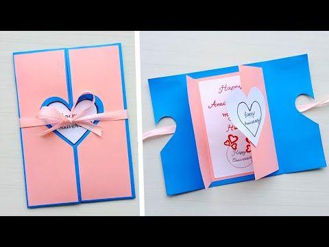 Beautiful Handmade Anniversary Card Idea Diy Greeting Cards For Anniversary Youtube Anniversary Cards Handmade Anniversary Greeting Cards Anniversary Cards