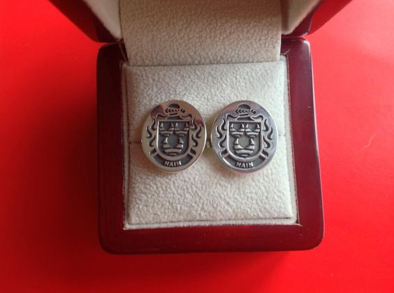 Hain family crest cufflinks