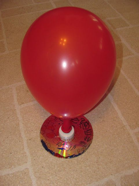 Make your own hovercraft with a balloon and CD.  Very cool project