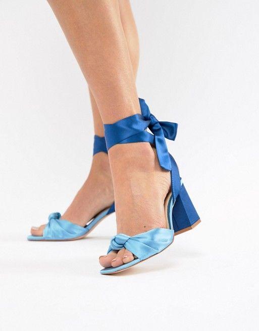 block heels, Grey block heel sandals
