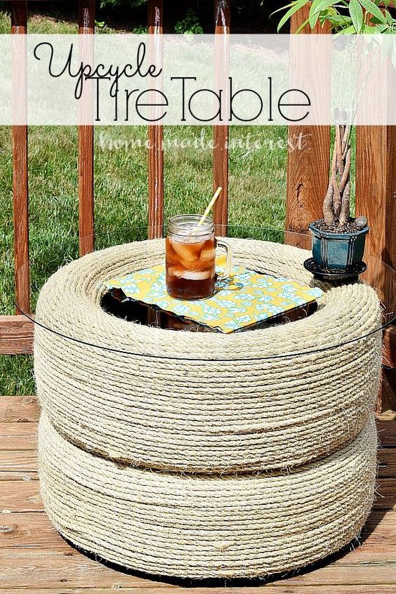 upcycle tires into a table glasses diy and crafts and