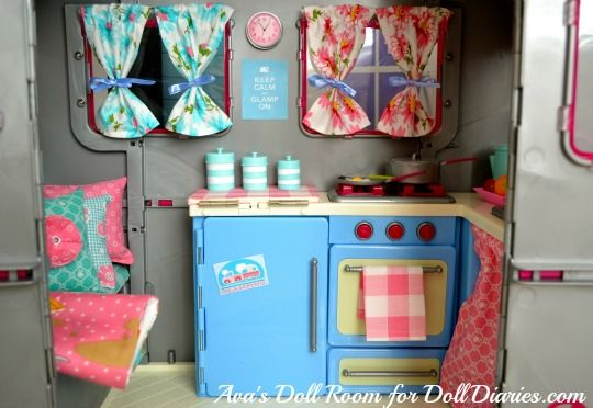 Our Generation Dolls Camper Makeover And Go Glamping On