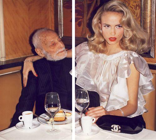 JUST MARRIED! - Vogue Paris - Natasha Poly (age 22) - Pierre Gérald (age 101) - ph Terry Richardson - #lexeecouture   http://lexeecouture.tumblr.com/archive  http://www.pinterest.com/lexeecouture123/pins/