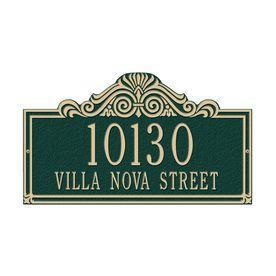 Whitehall 9.5-In X 16.5-In Villa Nova Standard Wall Two Line Green/Gol