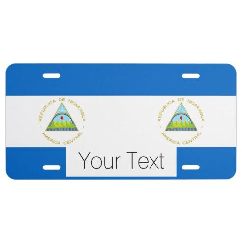 The Flag Of Nicaragua Latin America License Plate Make Your Own Flag Personalized Custom Flag