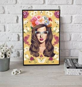 poster floral 126 - 30x40cm