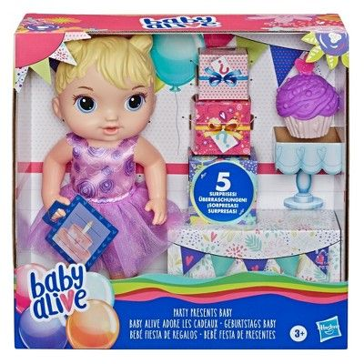 Baby Alive Party Presents Baby In 2020 Baby Alive Doll Clothes Real Looking Baby Dolls Baby Alive