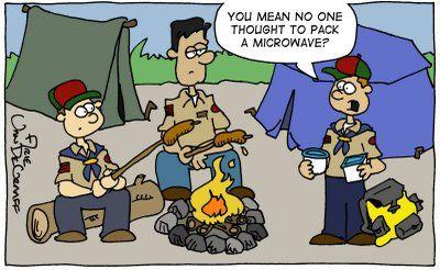 funny lds camp cartoons boy scout camp cub scoutsblue