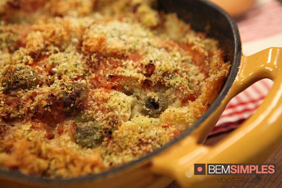 Nhoque com bacalhau gratinado. Por: Dalton Rangel. Natal Bem Simples. www.bemsimples.com/br/receitas/75982-nhoque-com-bacalhau-gratinado