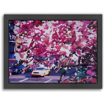 Americanflat 'New York Cab 2' by M Bleichner Framed Original Painting Size: