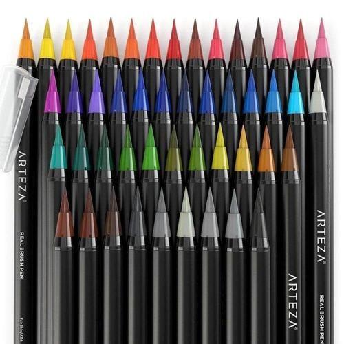 Watercolour Real Brush Pens Set Of 48 In 2019 Pencil Drawing