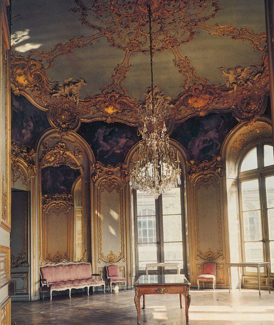 germaine boffrand salon de la princesse h tel de soubise in paris 1737 38 an example of. Black Bedroom Furniture Sets. Home Design Ideas