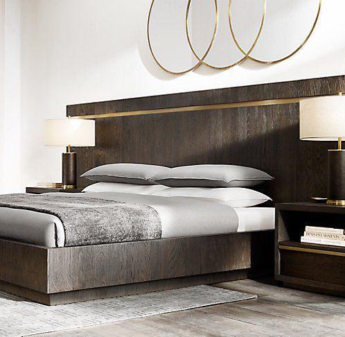 Bezier Bed Collection RH Modern