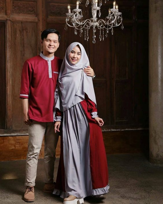 Baju Muslim Couple - Apakah Anda ingin terlihat kompak, serasi, dan harmonis bersama dengan pasangan atau keluarga? Anda bisa lakukan hal ini.