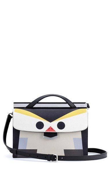 Fendi 'Mini Demi Jour - Bird' Leather Satchel available at #Nordstrom