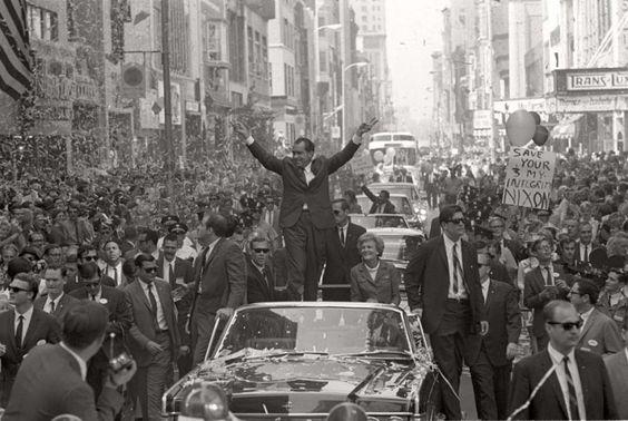 Max Scheler  Richard Nixon im Wahlkampf, Philadelphia, USA  1968