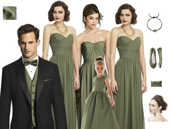 Sweet Pantone Moss for Your Summer or Fall Wedding! - Bridesmaid.com