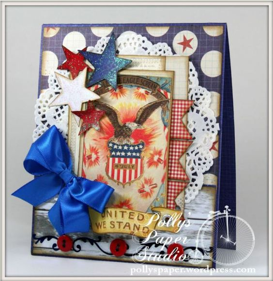 Patriotic cards and kit - Polly's Paper