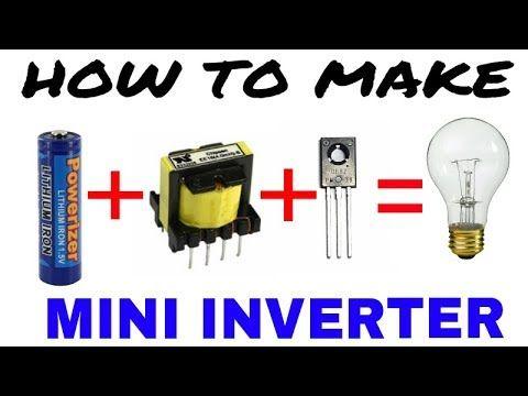 How To Make 1 5v Battery To 220v Ac Inverter Youtube