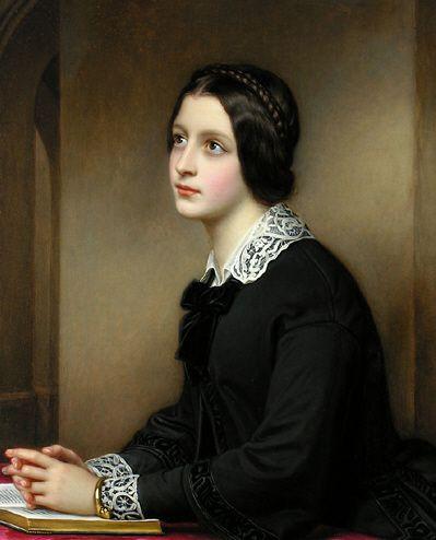 Maria Dietsch peinte par Joseph Karl Stieler.  Galerie des beautés au château de Nymphenburg (Munich).: