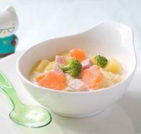 Recette - Blanc de poulet aux carottes et brocolis - Les recettes pour bébés et mamans de Blédina